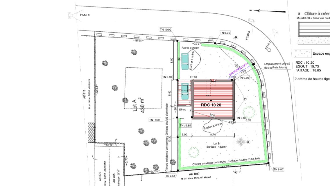 Plan de masse de maison le tour de la maison plan de for Plan de coupe de maison