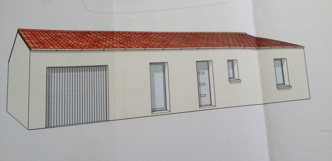 La façade avant de la maison, orienté nord.