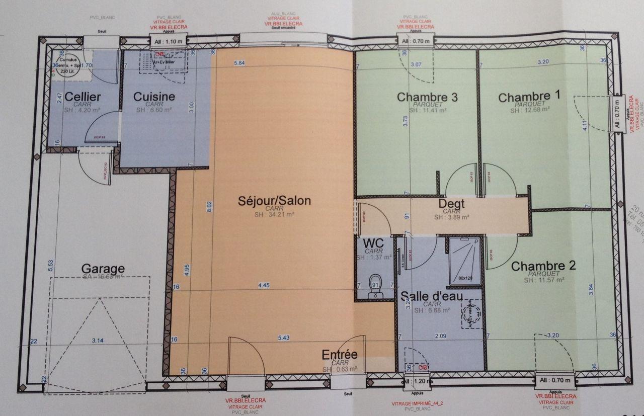 Plan de maison.
