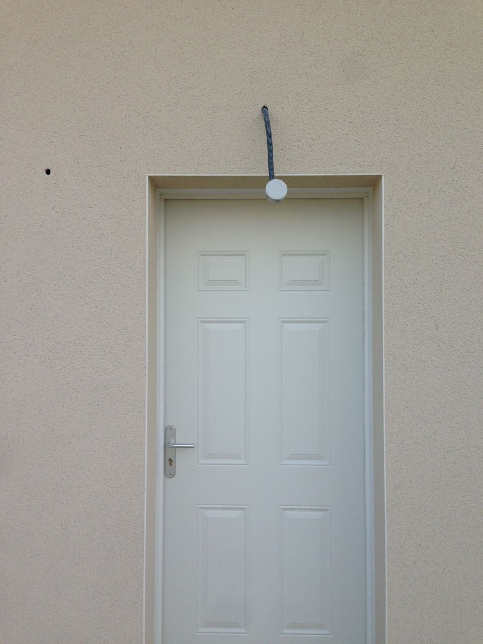 Déplacement du point lumineux de la porte d'entrée