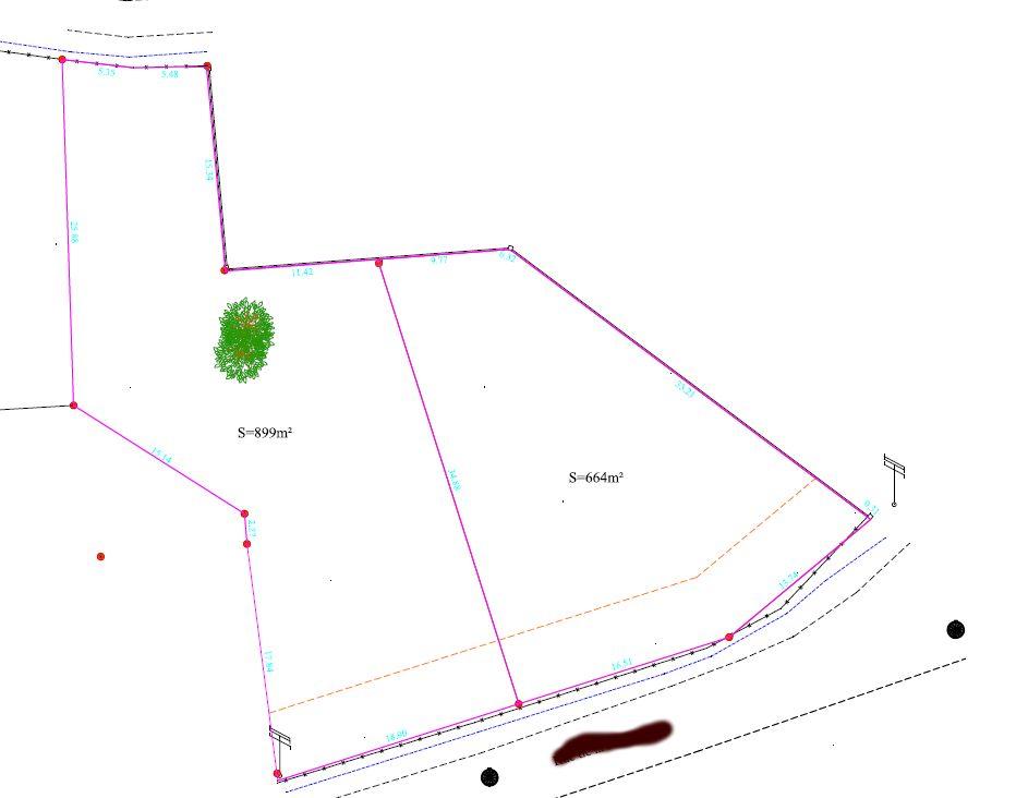 plan de masse du terrain