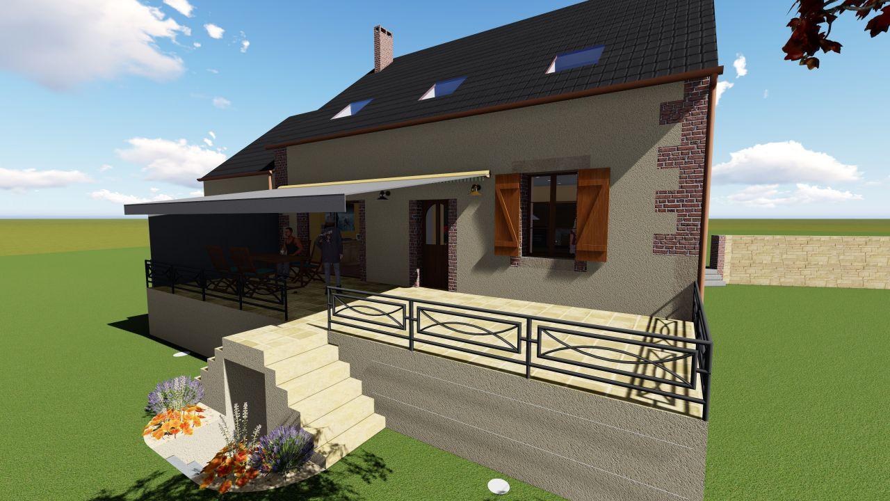 Projet 3D terrasse
