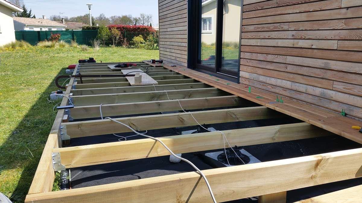 Debut construction terrasse