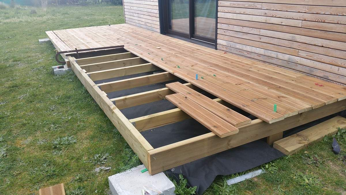 construction terrasse container