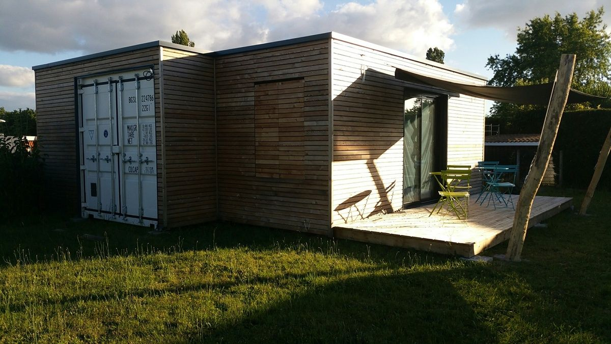 D coupe ext rieur garage en container maritime gironde for Maison container aquitaine