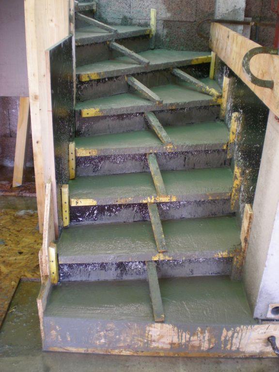 Escalier coullé