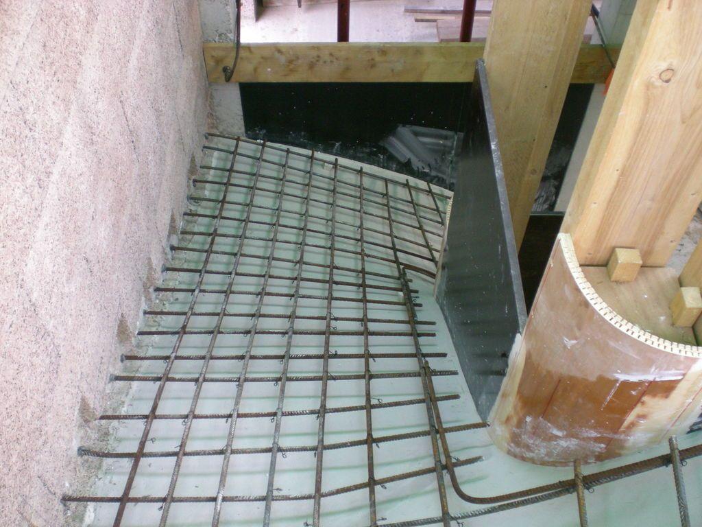 Ferraillage de l'escalier