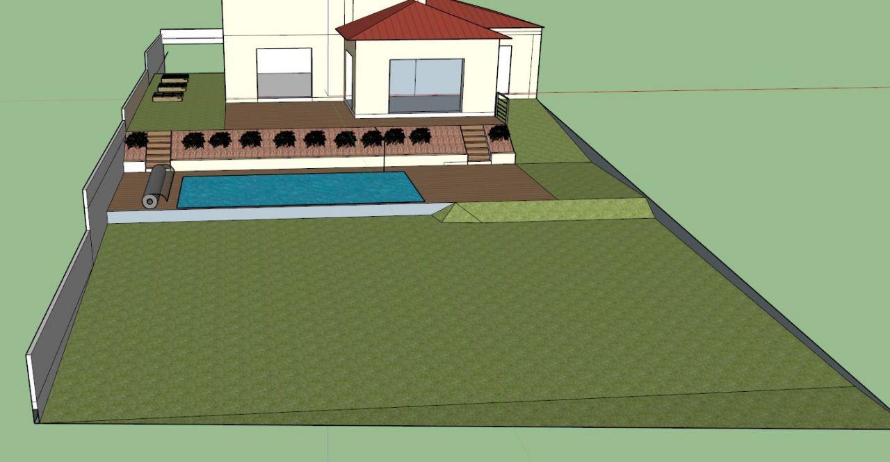 Idée implantation piscine dans la pente