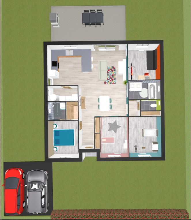maison carrée 104m²