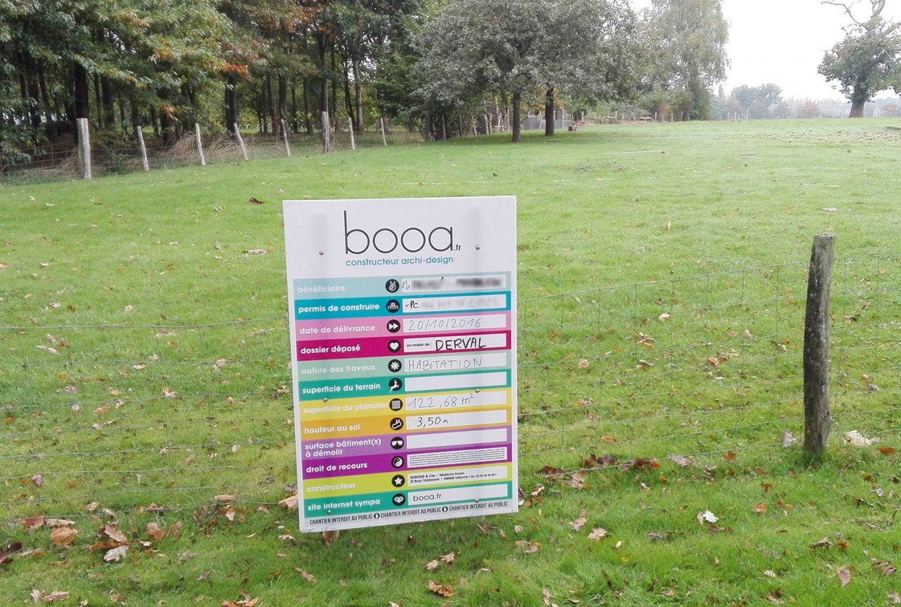 Voici notre panneau BOOA, posé le 27 Octobre 2016
