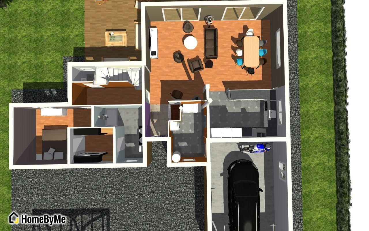 plan rez de chaussée 3D