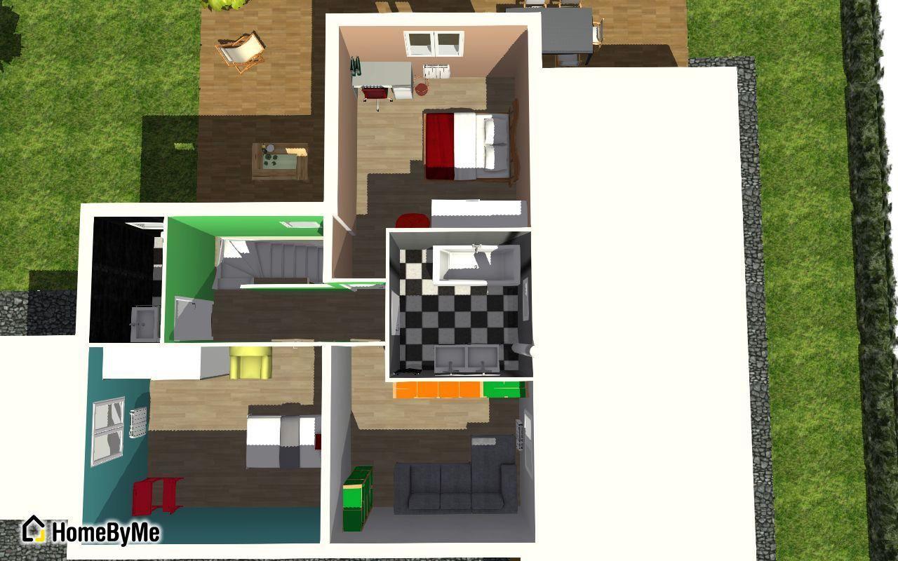plan étage 3D