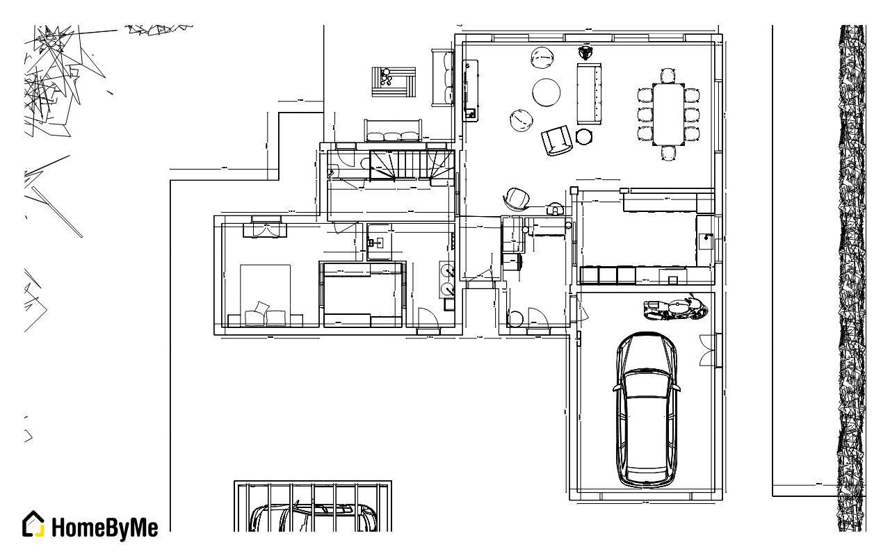 plan rez de chaussée 2D