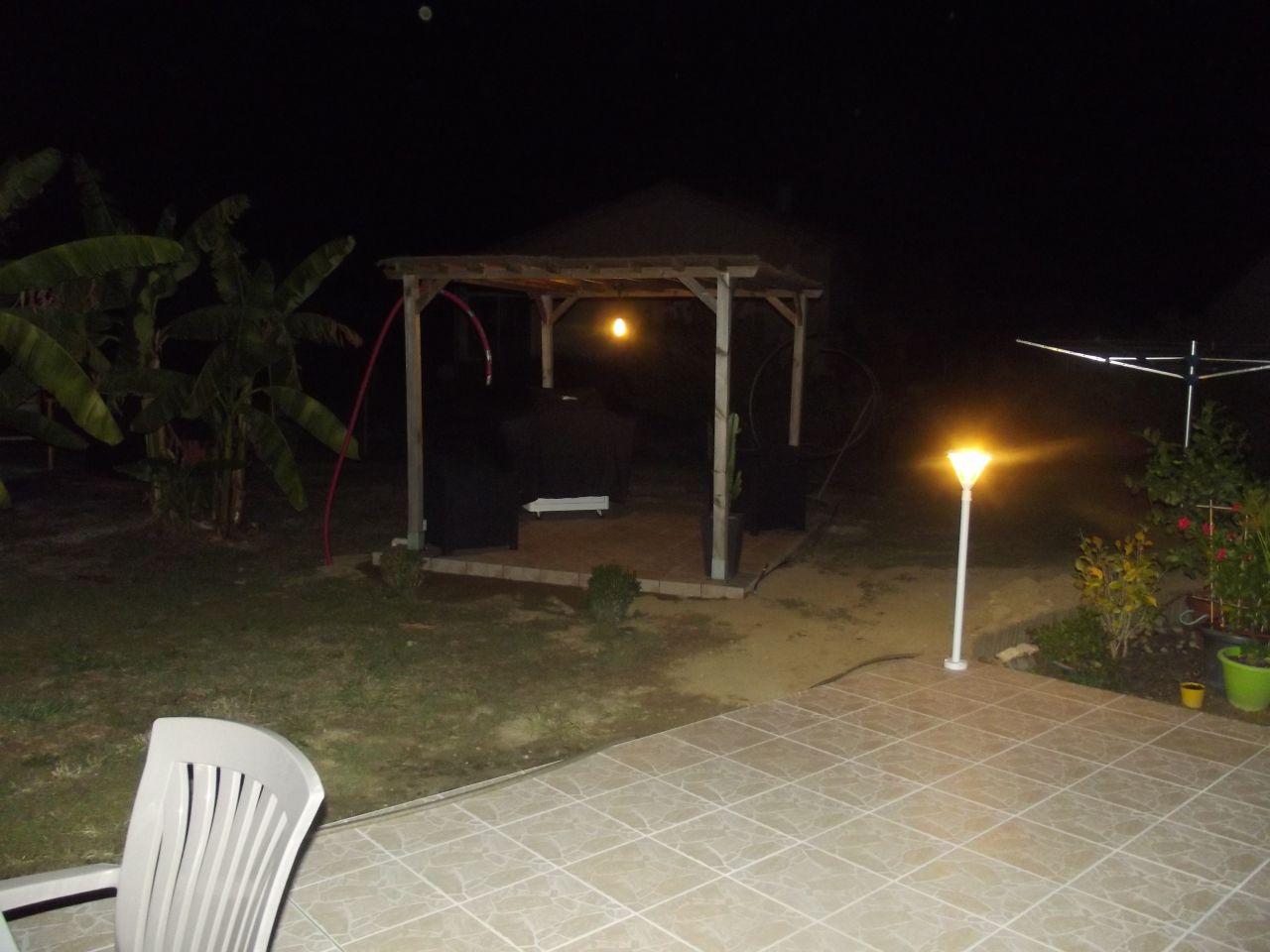 Eclairage de la pergola et de la terrasse opérationnel