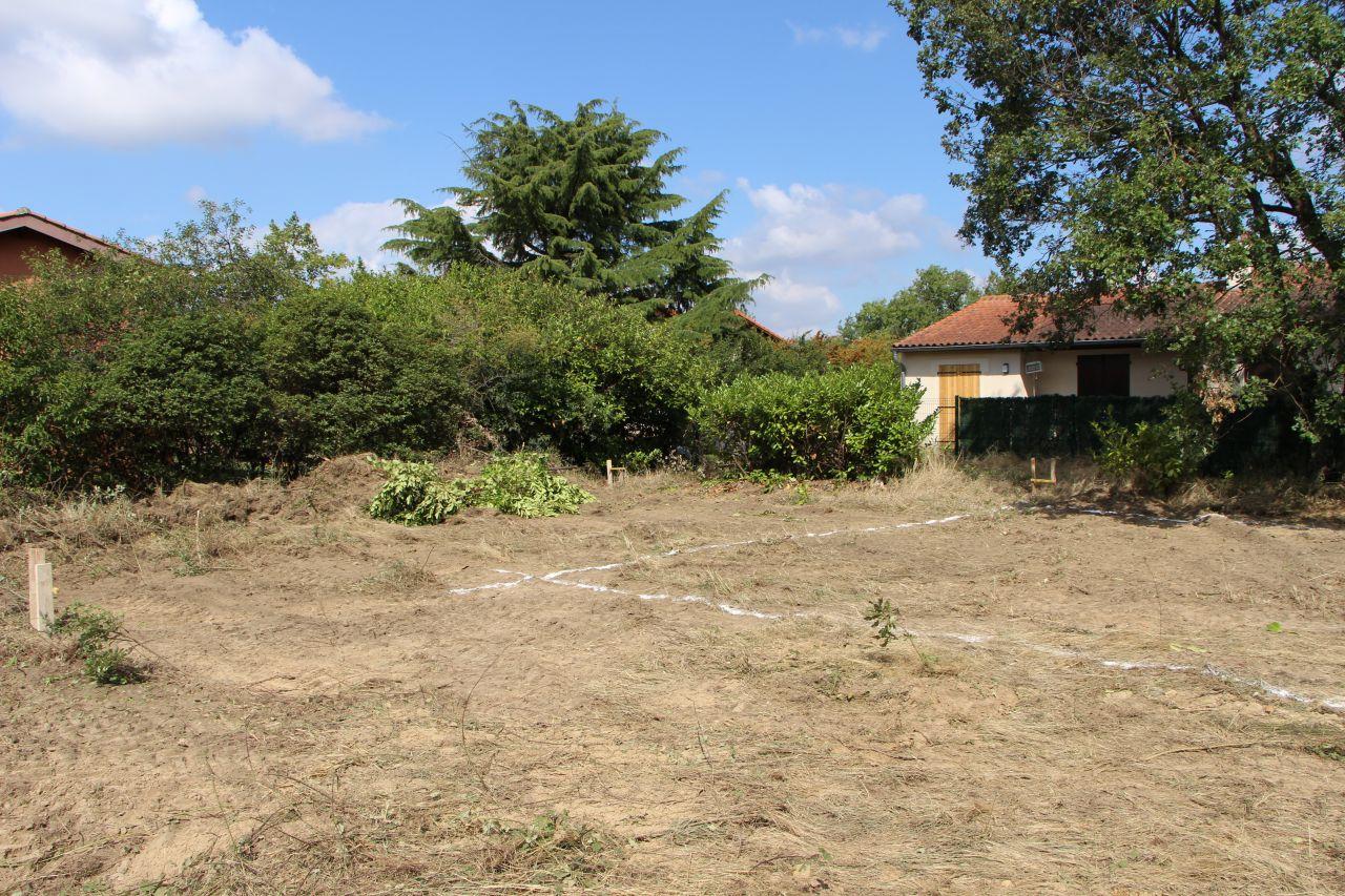Implantation de la maison : ... puis avec un marquage au sol