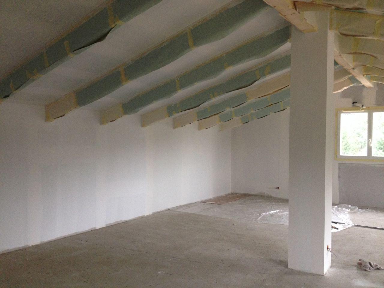 La peinture partie 1 grenier fini corse for Retouche peinture plafond