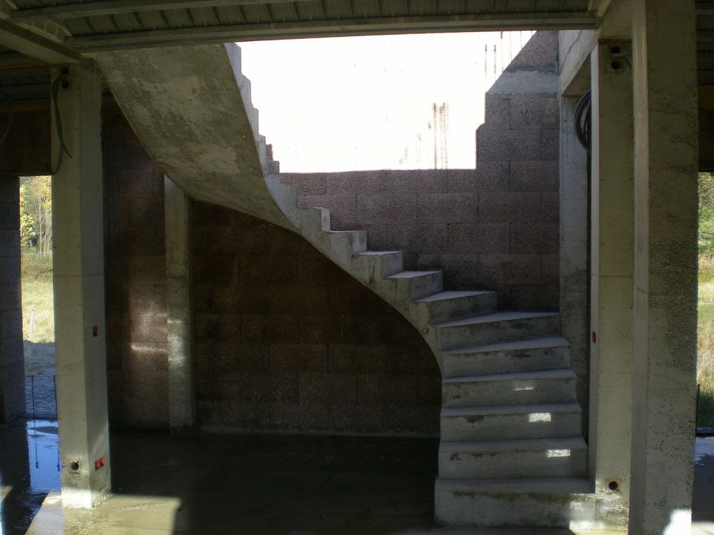 Escalier décoffré
