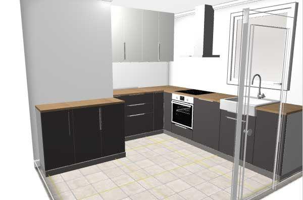 Projet implantation cuisine ikea pour nouvelle maison 9 for Ikea projet cuisine