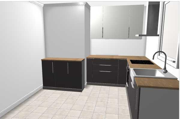 Projet implantation cuisine ikea pour nouvelle maison 9 for Implantation cuisine