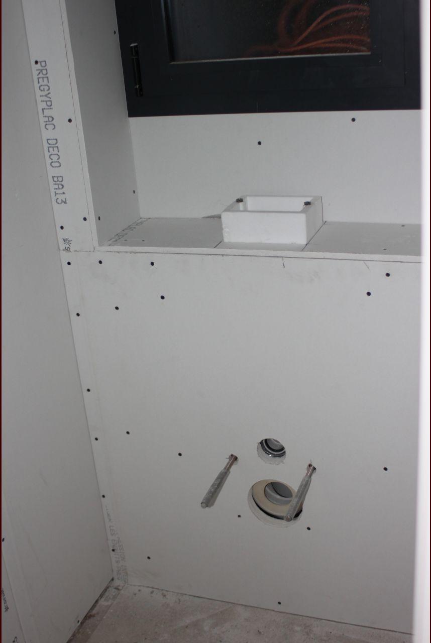 Coffrage WC suspendus et évent WC