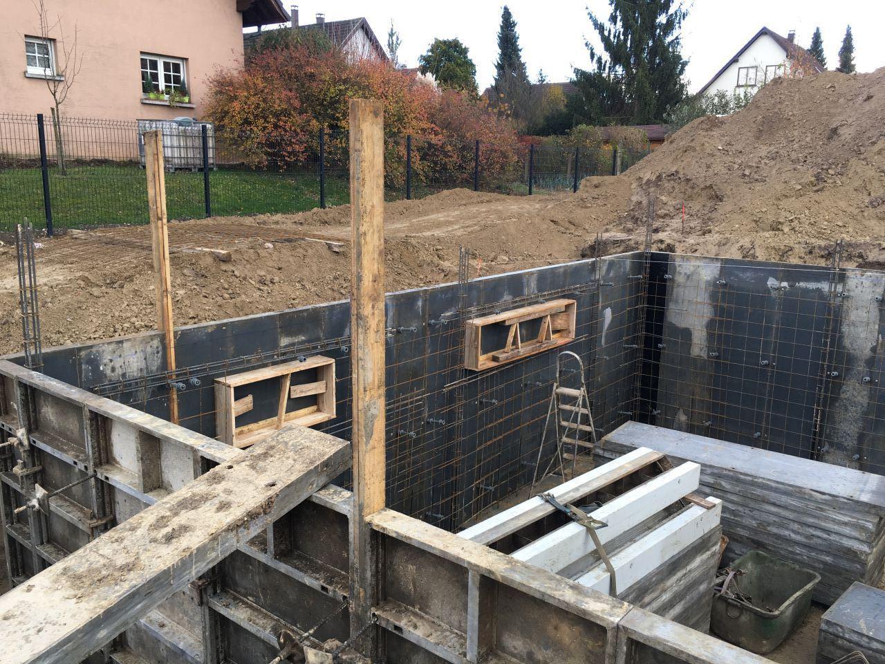 Coffrage pour les murs du sous-sol