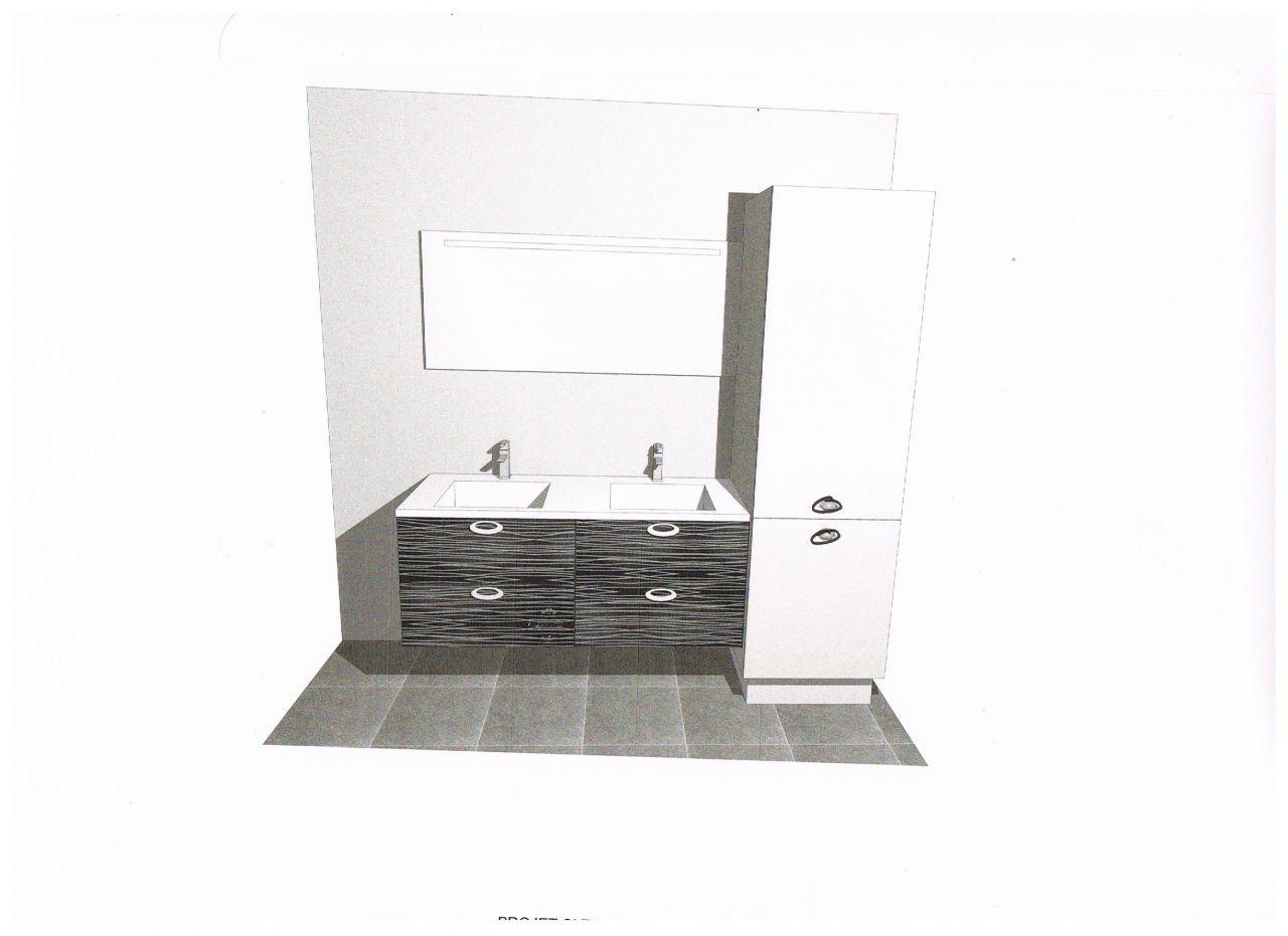 plan 3D de la salle de bain
