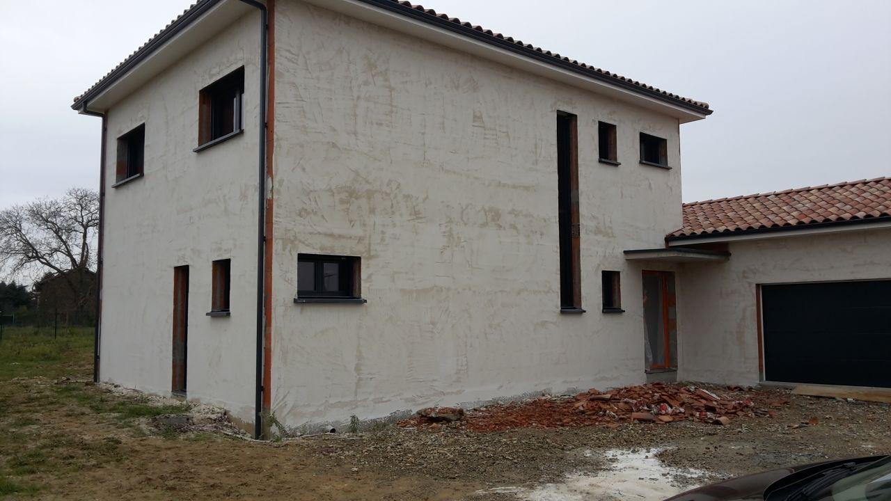 Couche d'impression façade Nord et Est