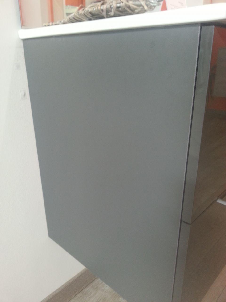couleur du meuble double vasque : gris anthracite