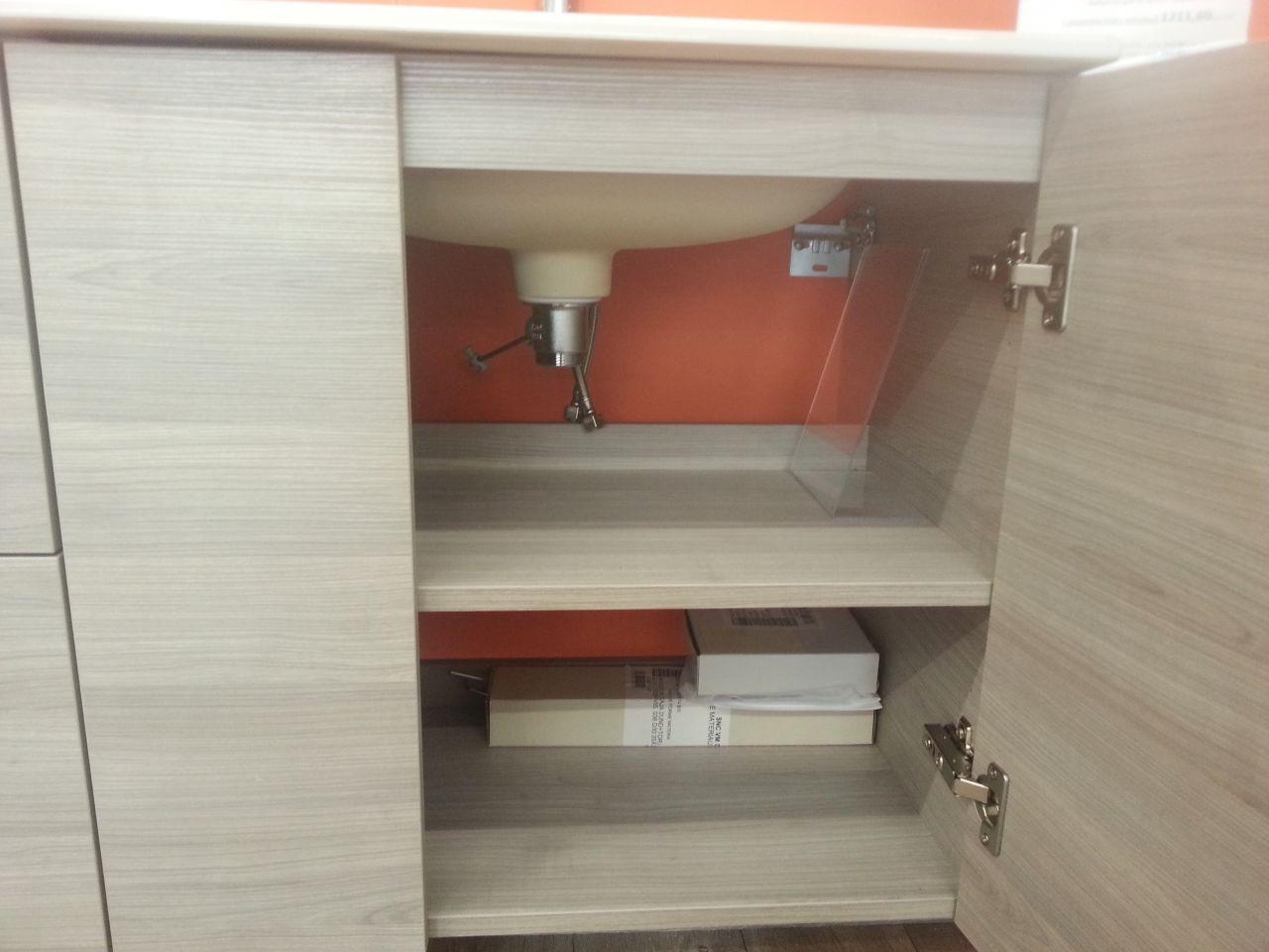 le meuble aura des portes comme ici et non des tiroirs