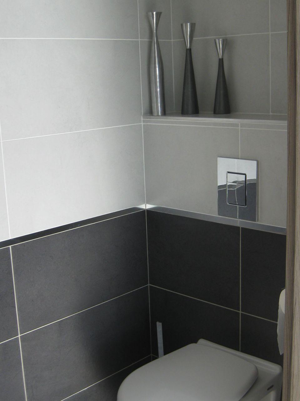 Photo wc invit s on a opt pour les wc et salle de bains - Faience salle de bain contemporaine ...