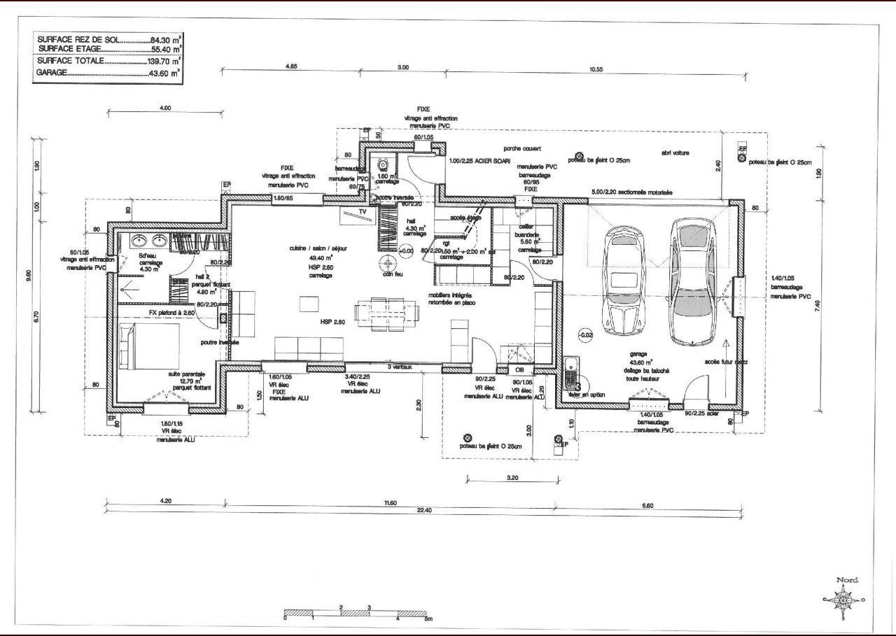 Plan du Rez-de-Chaussée.