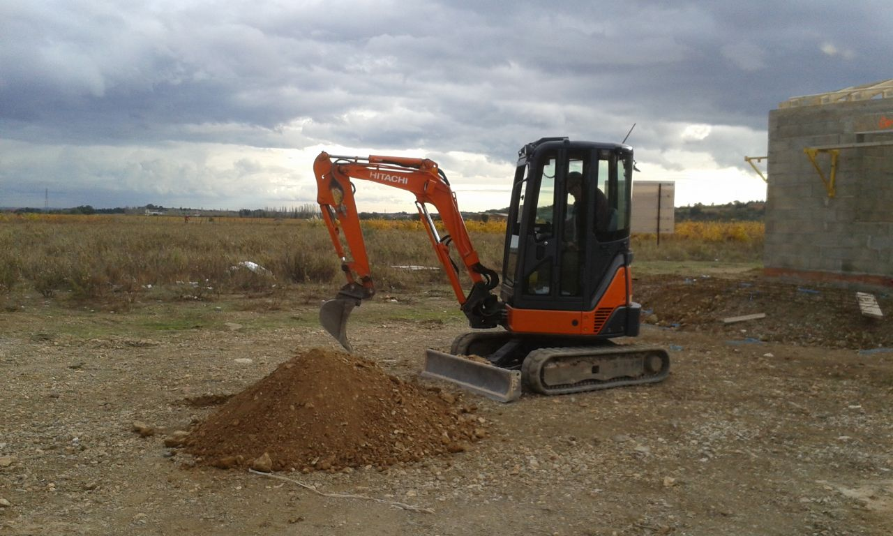 Etude de sol - réalisation fouille géologique