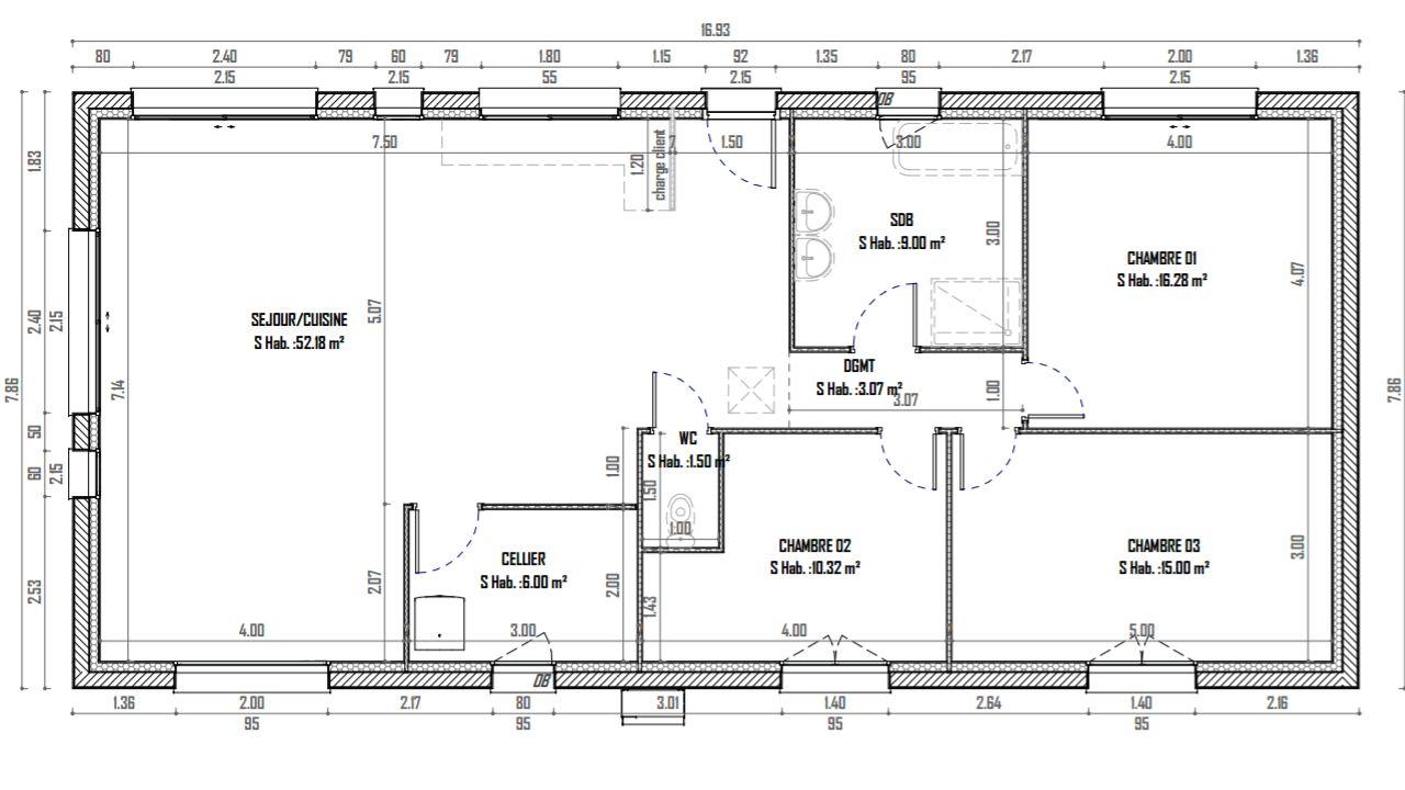 plain pied combles 140m2 gueudry seine maritime. Black Bedroom Furniture Sets. Home Design Ideas