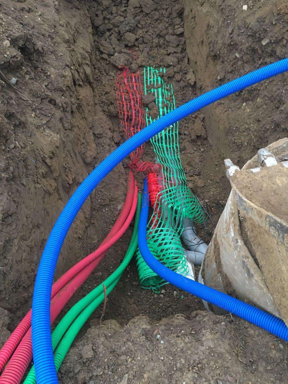 Gaines EDF/PTT & arrivée d'eau