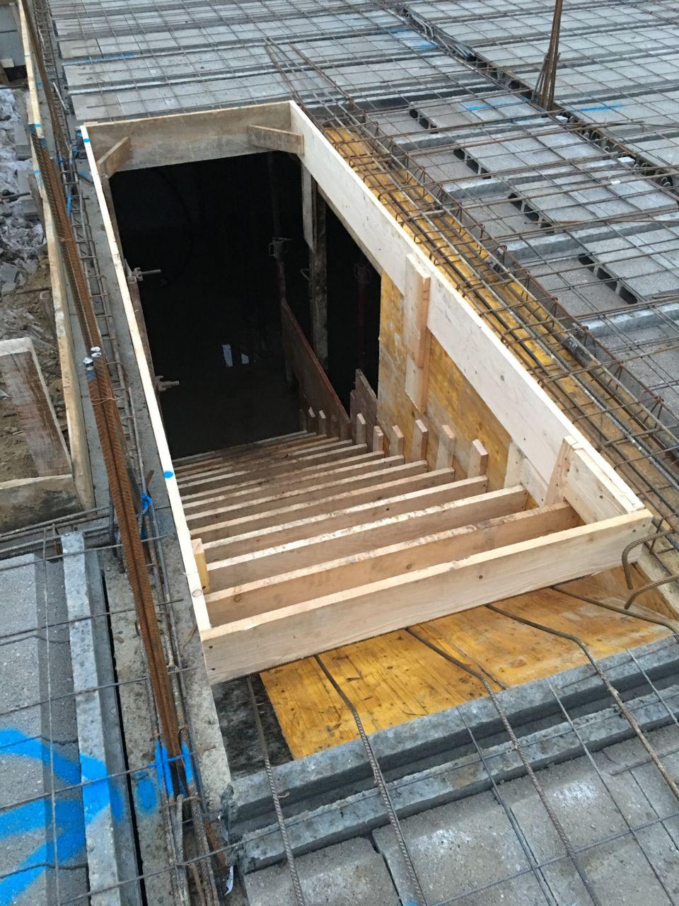 Escalier béton - coffrage