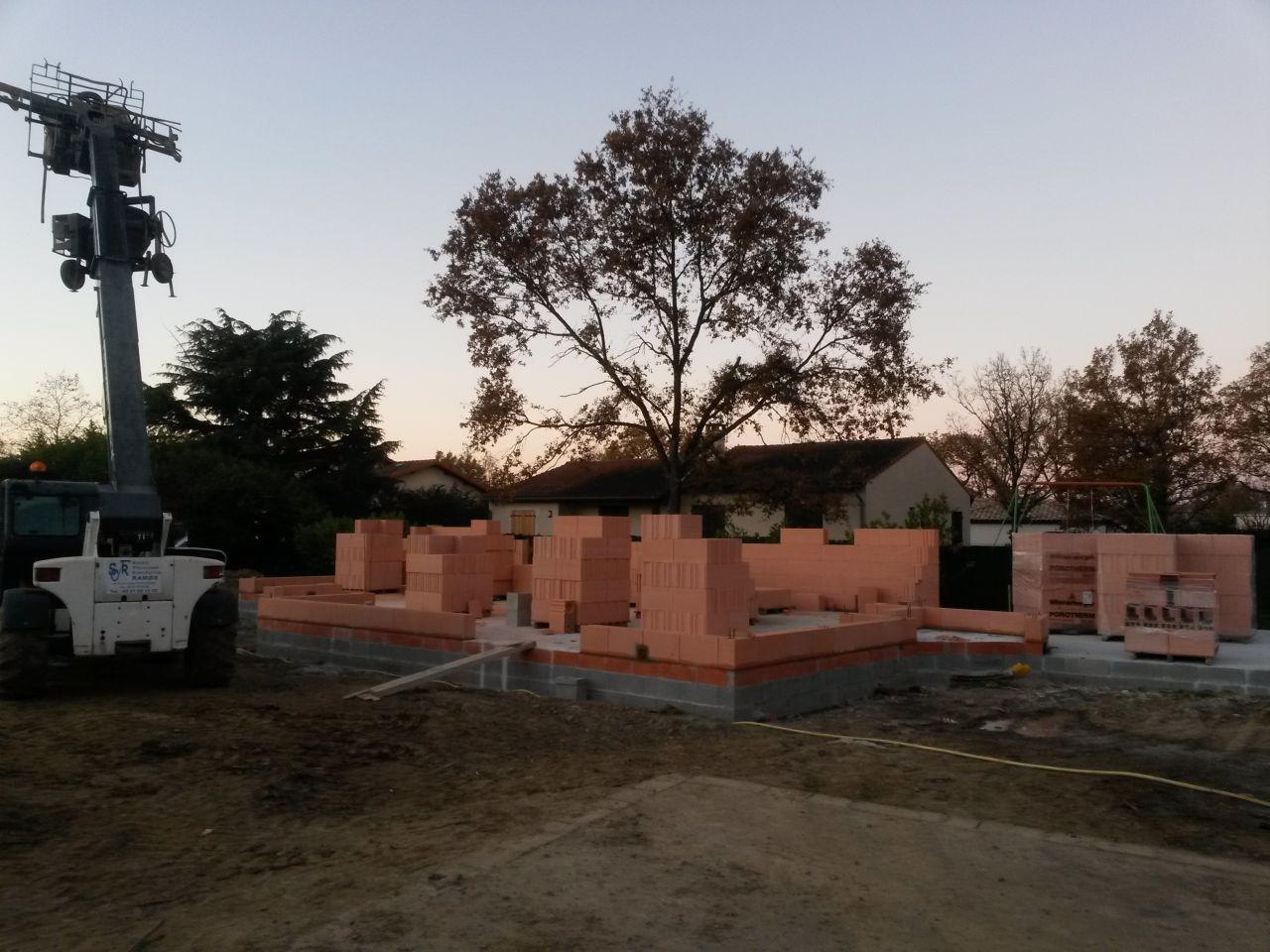 Elévation des murs - Jour 1