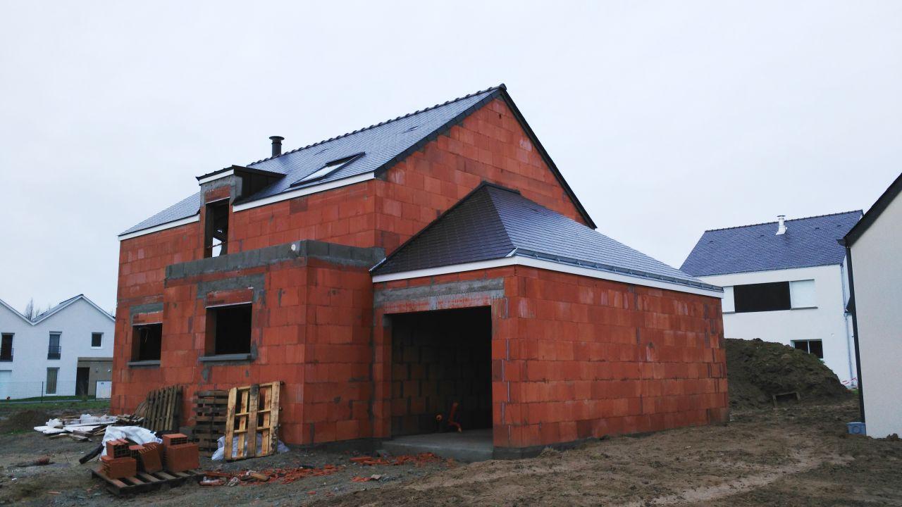 Maison couverte - vue d'ensemble