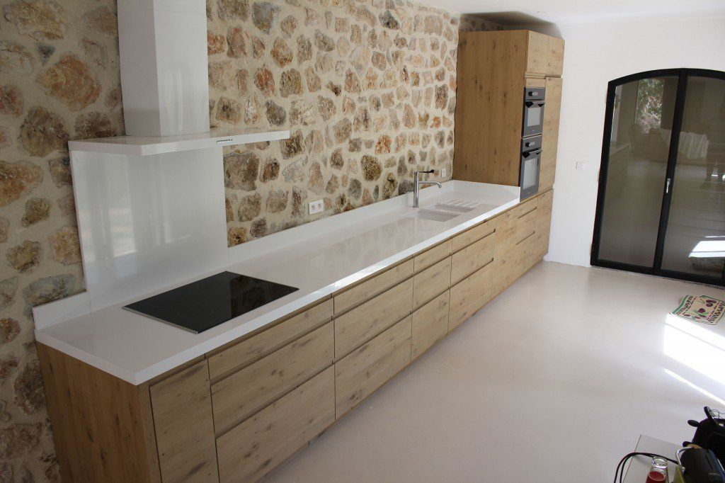 Ide du design de la cuisine sans le mur en pierre with for Amenager chambre 5m2