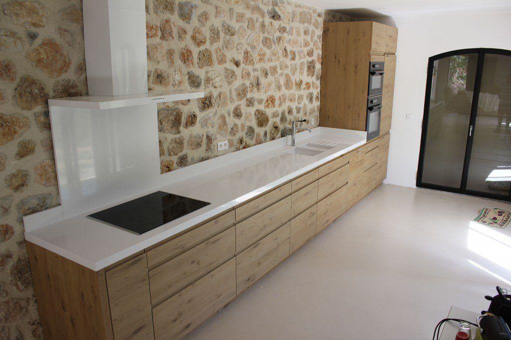 Ide du design de la cuisine sans le mur en pierre with for Amenager chambre 5m2
