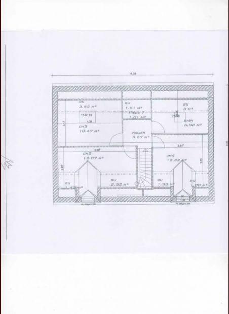 plan de l'étage de notre maison