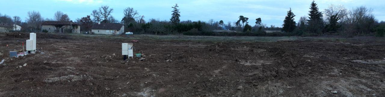 10 janvier 2017, notre terrain a été nettoyé