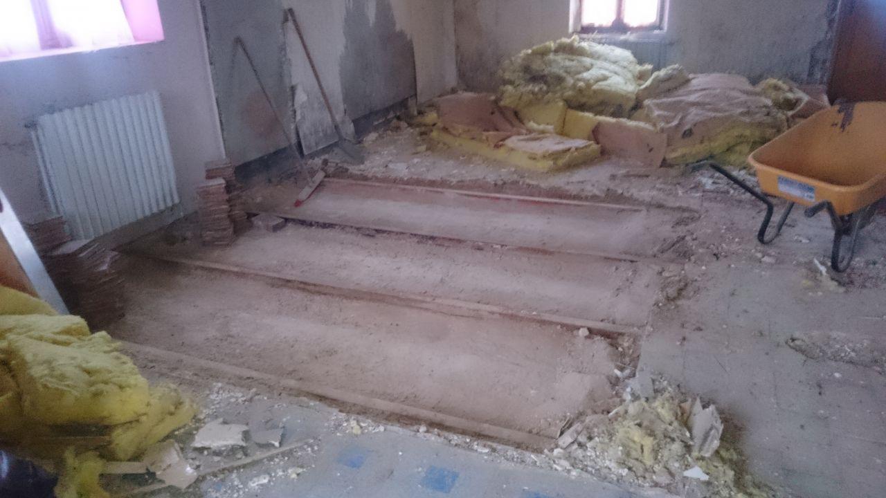 Démolition du plancher