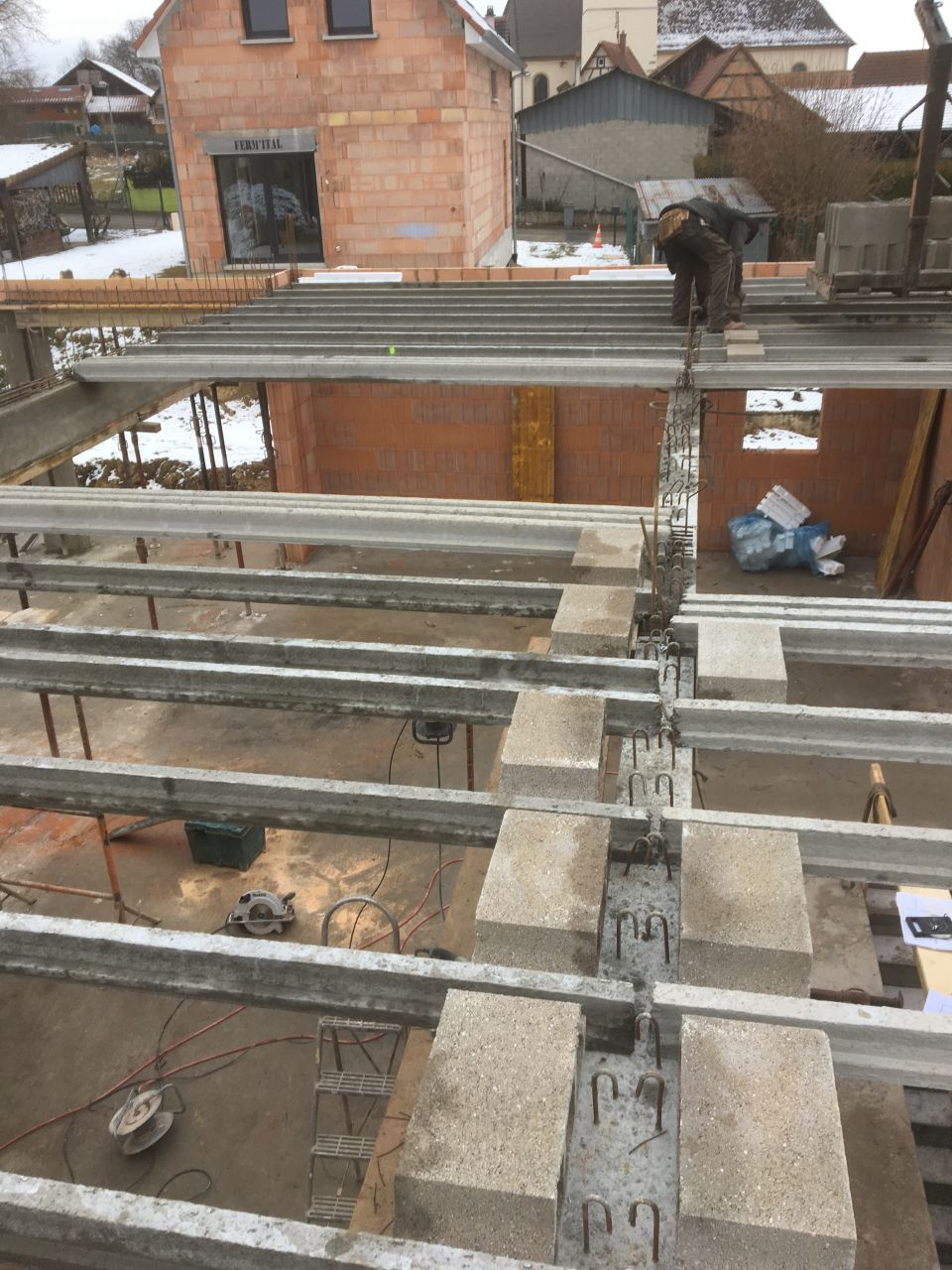 Préparation dalle 1er étage