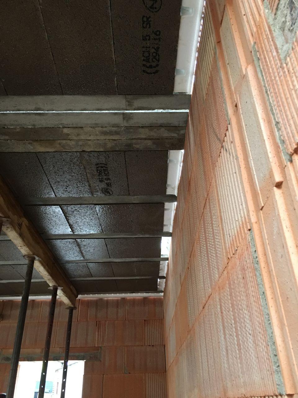 Préparation dalle 1er étage (rupteurs thermiques)
