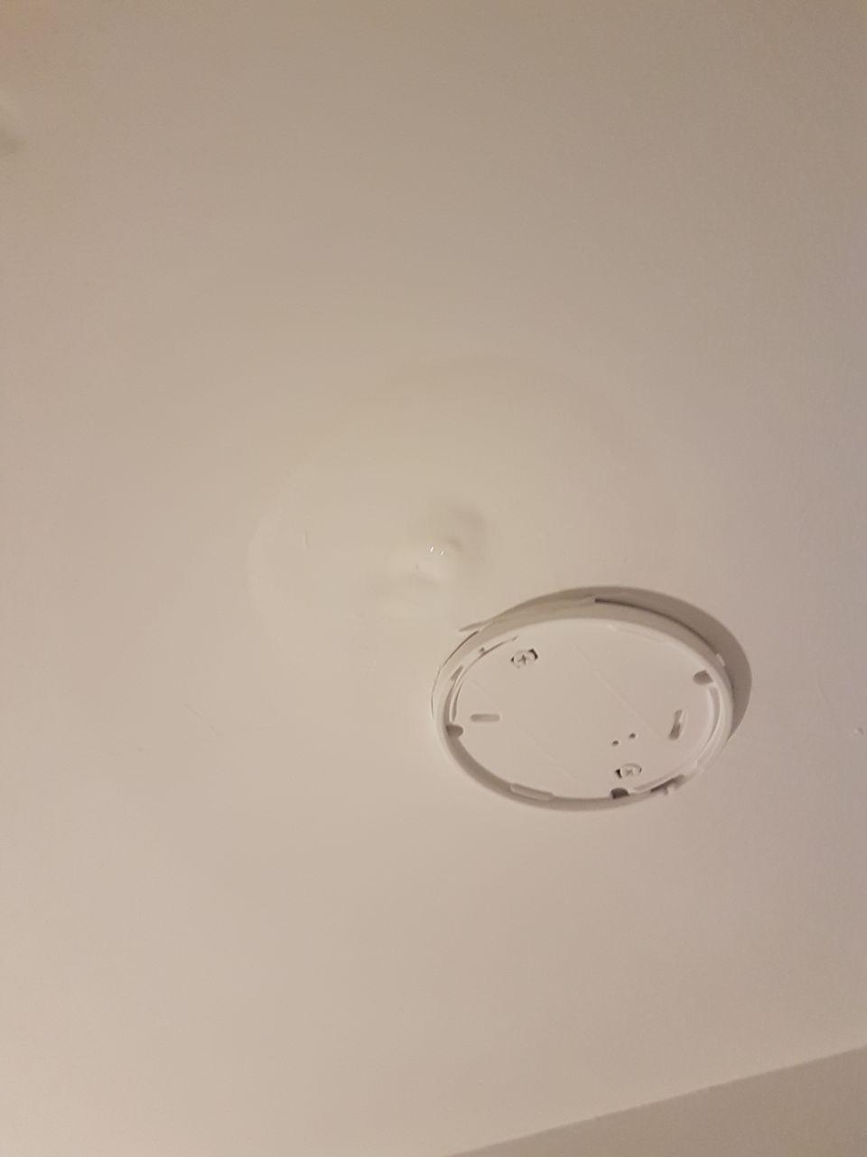 Infiltration d'eau plafond