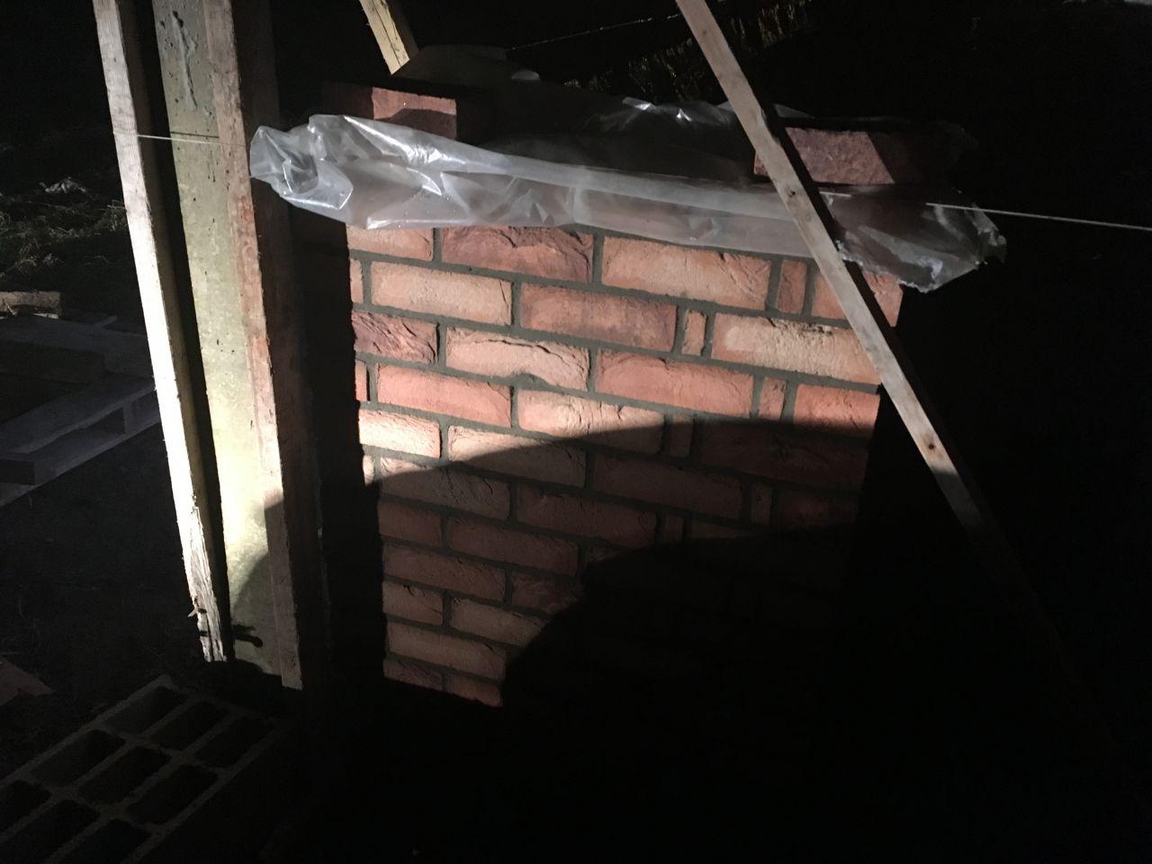 Montage des murs en brique Azaléa de vandersanden