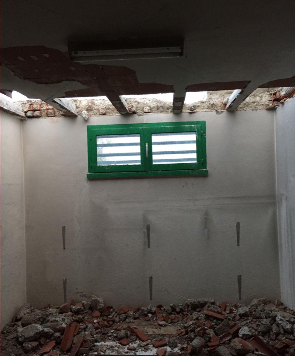 Le garage, qu'on ne devais pas toucher, avec les poutrelles retrouvées