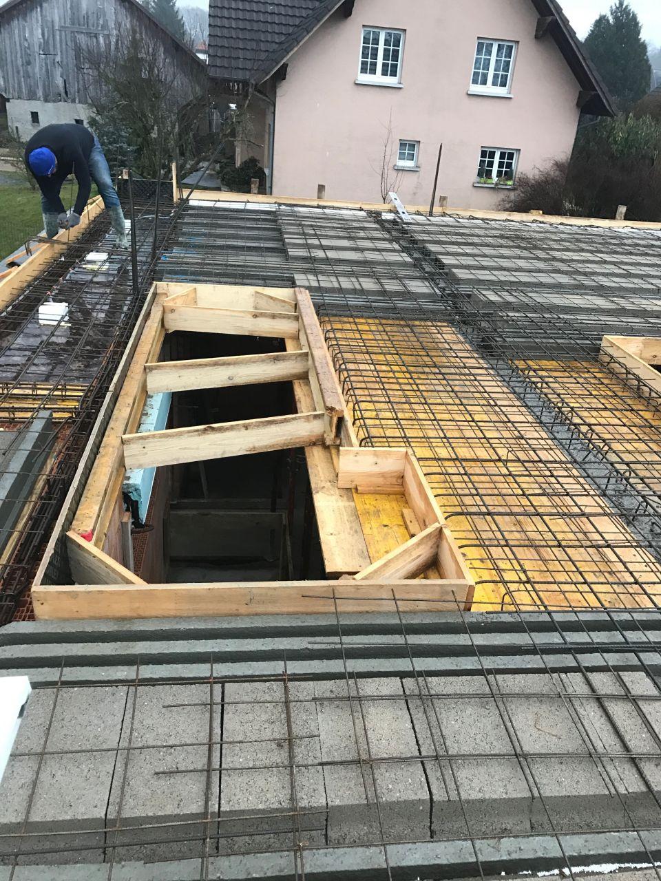 Dalle 1er étage - escalier
