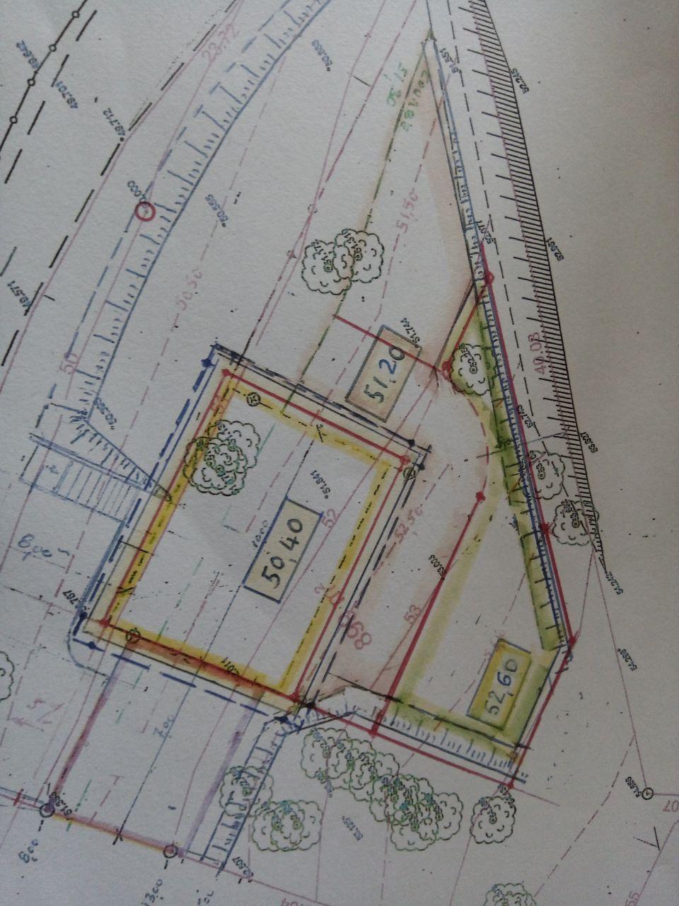Plan de masse des plateaux de terrassement