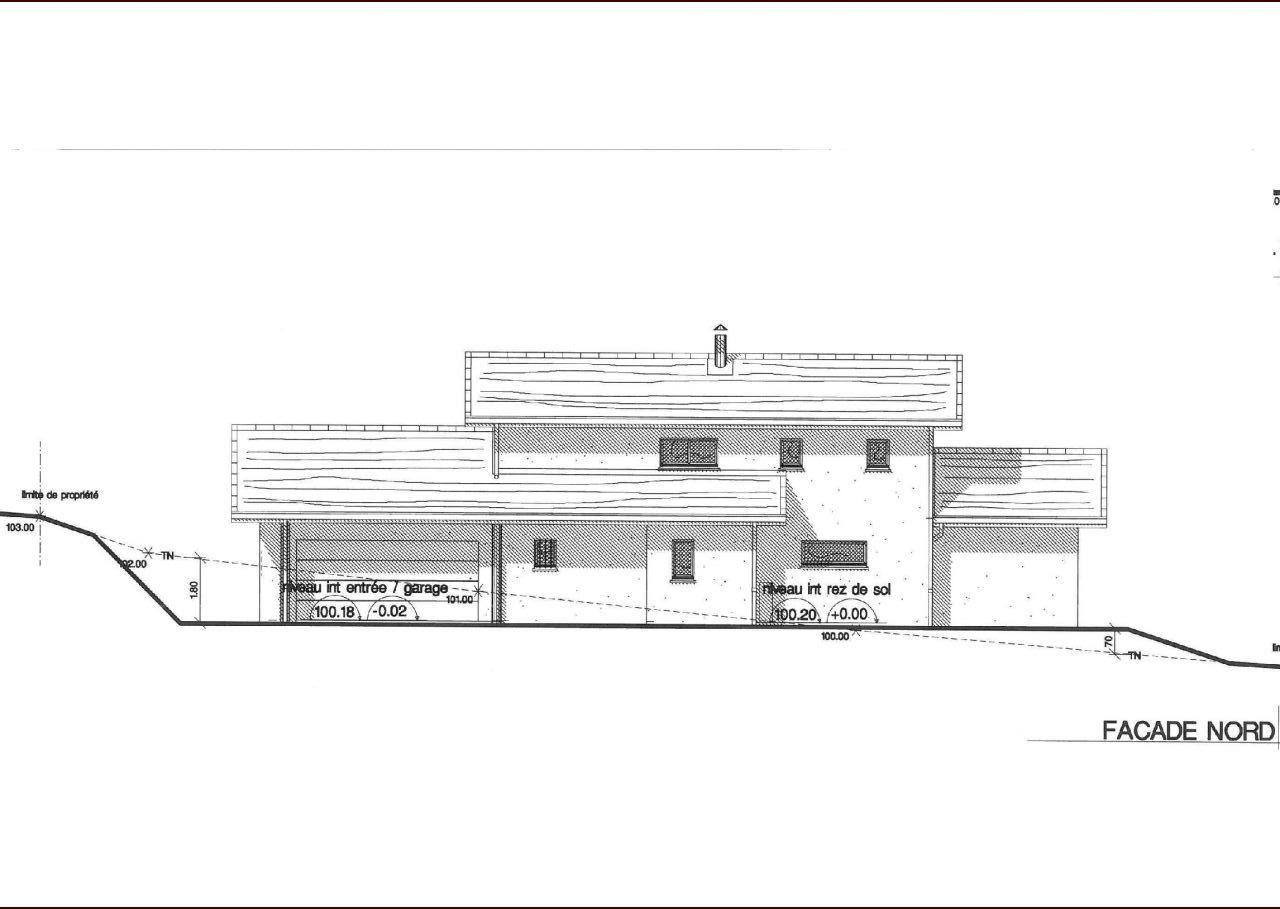 Plan définitif façade nord